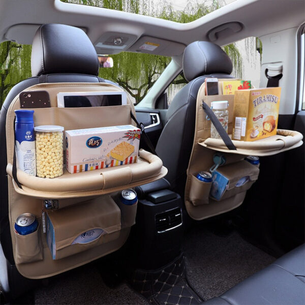 Car Organizer Bag Seat Back Storage Stowing Tidying With Hanging Table Pocket Protector Travel PU Leather 7 1.jpg 640x640 7 1