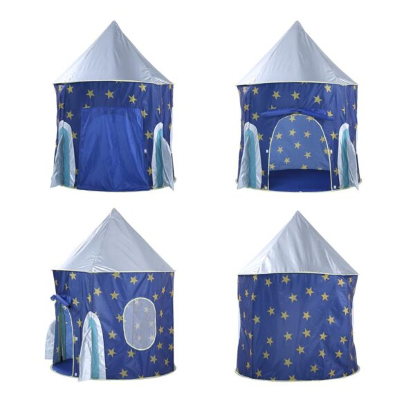 Children s Tent Folding Baby House Star Rocket Castle Projection Rocket Ship Play Tent Spaceship Playhouse 2