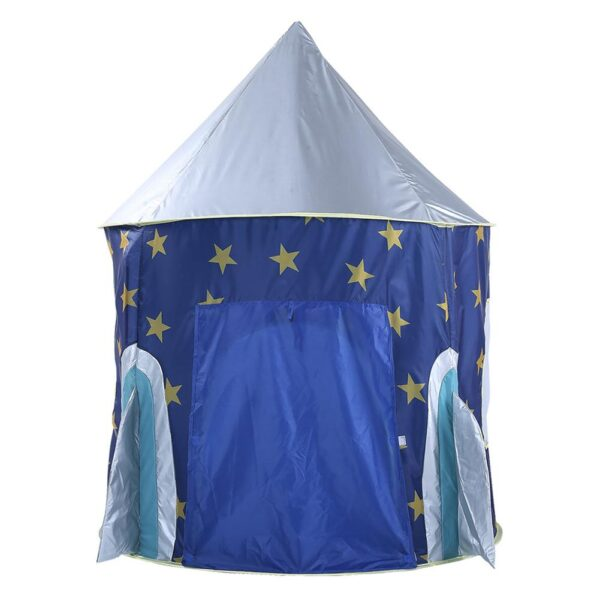Children s Tent Folding Baby House Star Rocket Castle Projection Rocket Ship Play Tent Spaceship Playhouse 3