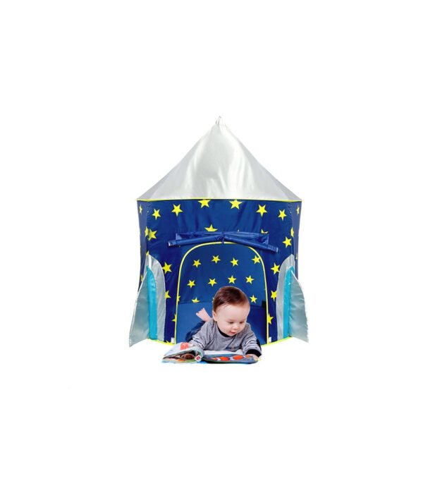 Children s Tent Folding Baby House Star Rocket Castle Projection Rocket Ship Play Tent Spaceship Playhouse 6