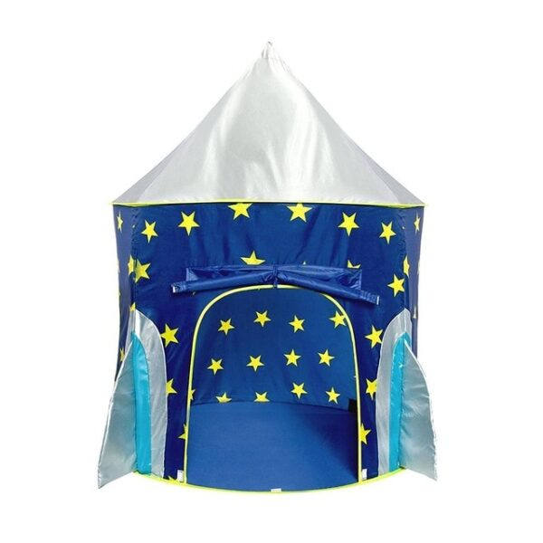 Children s Tent Folding Baby House Star Rocket Castle Projection Rocket Ship Play Tent Spaceship