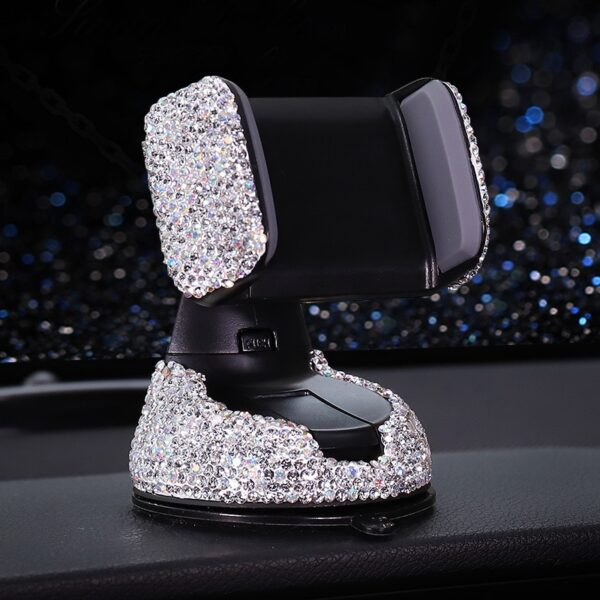 Crystal Rhinestones Universal Car Phone Holder for iPhone smartphone Mobile phone car holder Stand Air Vent 3