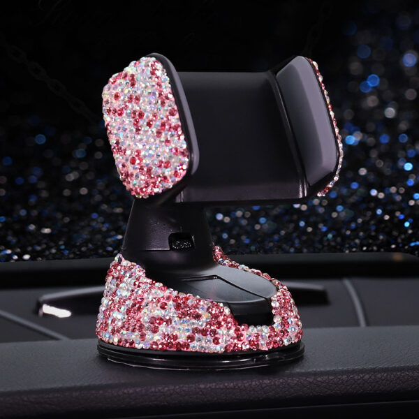 Crystal Rhinestones Universal Car Phone Holder for iPhone smartphone Mobile phone car holder Stand Air Vent 4
