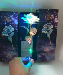 Drop Shipping Valentine s Day Creative Gift 24K Foil Plated Rose Gold Rose Lasts Forever Love 1 510x510 1