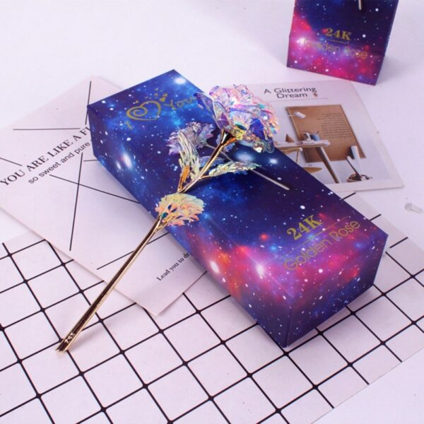 Drop Shipping Valentine s Day Creative Gift 24K Foil Plated Rose Gold Rose Lasts Forever Love 4