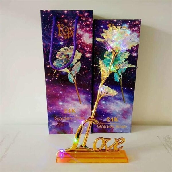 Drop Shipping Valentine s Day Creative Gift 24K Foil Plated Rose Gold Rose Lasts Forever Love 5.jpg 640x640 5