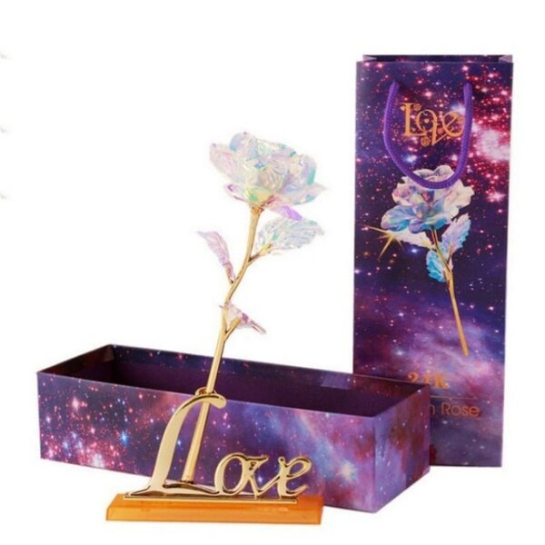 Drop Shipping Valentine s Day Creative Gift 24K Foil Plated Rose Gold Rose Lasts Forever