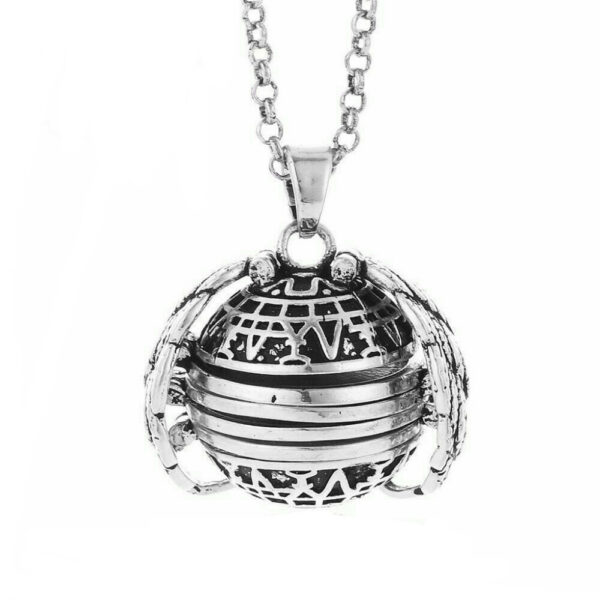 Expanding Photo Locket Necklace Pendant Choker Angel Wings Gift Jewelry Decoration Necklace Exquisite Ornaments Torque Pendant 1