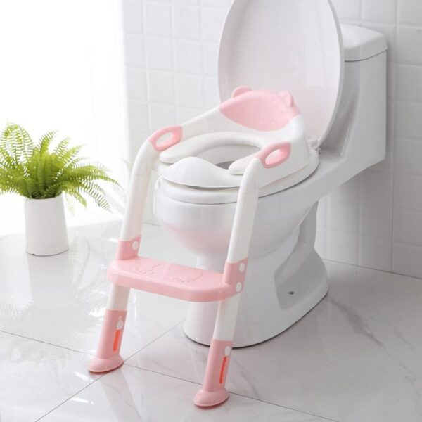 Folding Baby Potty Infant Kids Toilet Training Seat with Adjustable Ladder Portable Urinal Potty Toilet Seat 1