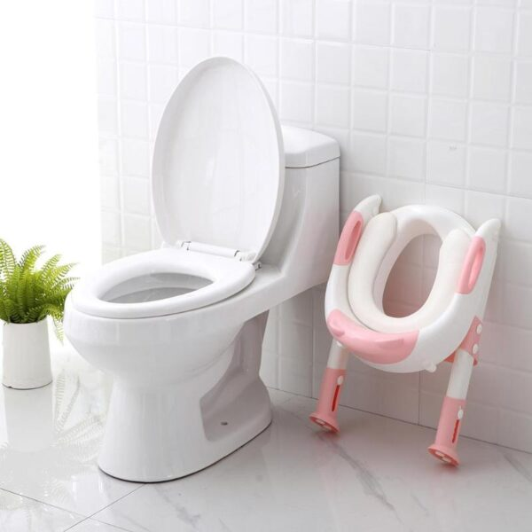 Folding Baby Potty Infant Kids Toilet Training Seat with Adjustable Ladder Portable Urinal Potty Toilet Seat 3