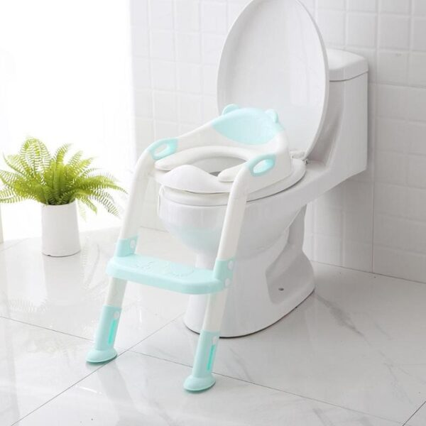 Folding Baby Potty Infant Kids Toilet Training Seat with Adjustable Ladder Portable Urinal Potty Toilet