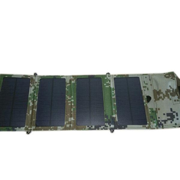 GGX ENERGY 8W Portable Solar Charger for Mobile Phone iPhone Folding Mono Solar Panel Foldable Solar 2 1