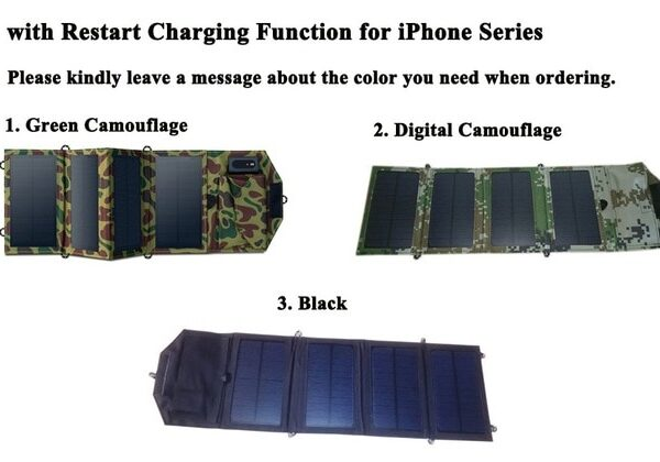 GGX ENERGY 8W Portable Solar Charger for Mobile Phone iPhone Folding Mono Solar Panel Foldable Solar 6.jpg 640x640 6