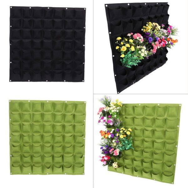 Garden Grow Bag Pockets Vertical Planter Wall mounted PE Gardening Flower Hanging Felt Planting Bag Indoor 1