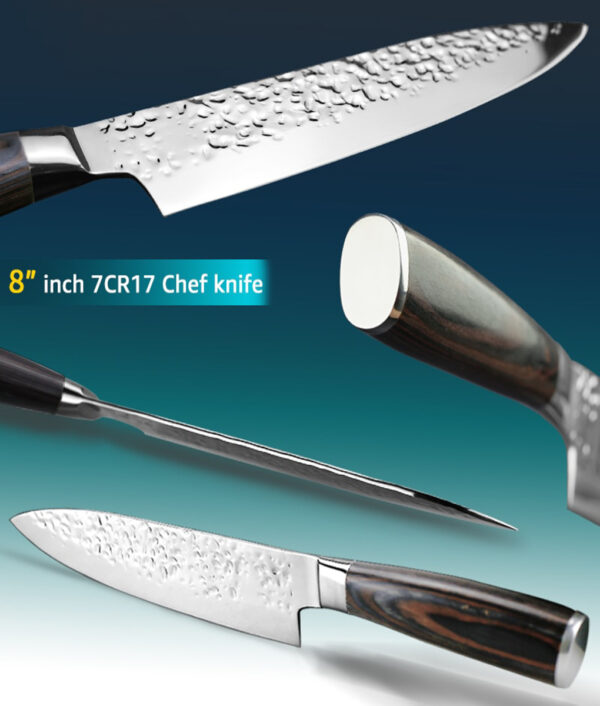 Kitchen Knife 8 inch Professional Japanese Chef Knives 7CR17 440C High Carbon Stainless Steel Meat Santoku 1 1