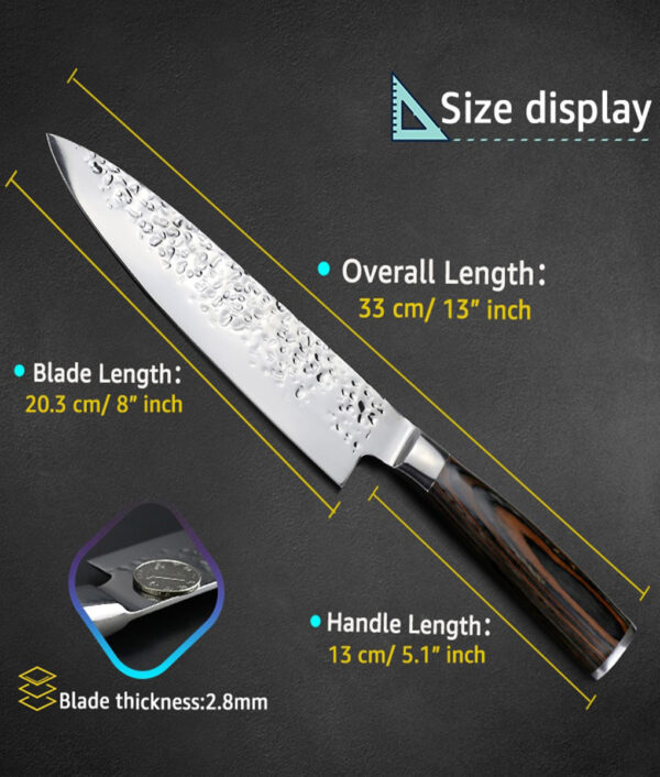 Kitchen Knife 8 inch Professional Japanese Chef Knives 7CR17 440C High Carbon Stainless Steel Meat Santoku 4 1