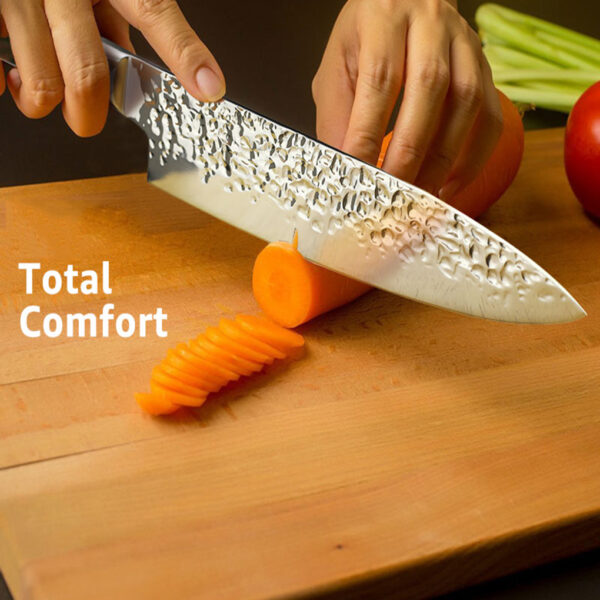 Kitchen Knife 8 inch Professional Japanese Chef Knives 7CR17 440C High Carbon Stainless Steel Meat Santoku 5 1