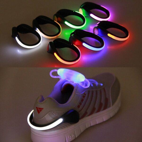 LED Luminous Shoe Clip Outdoor Bike Bicycle LED Luminous Night Running Safety Clips Cycling Sports Warning 1