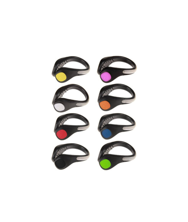 LED Luminous Shoe Clip Outdoor Bike Bicycle LED Luminous Night Running Safety Clips Cycling Sports Warning 2 1