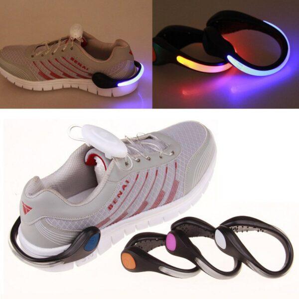 LED Luminous Shoe Clip Outdoor Bike Bicycle LED Luminous Night Running Safety Clips Cycling Sports Warning 3