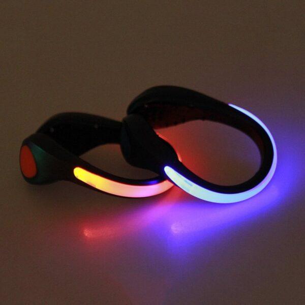 LED Luminous Shoe Clip Outdoor Bike Bicycle LED Luminous Night Running Safety Clips Cycling Sports Warning 5
