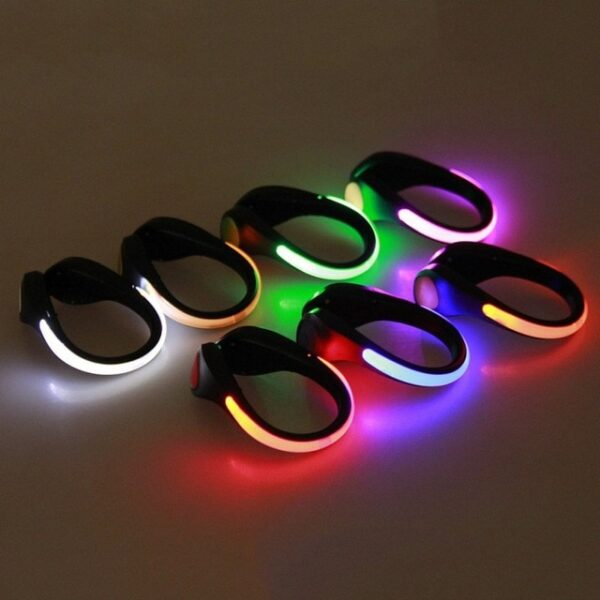 LED Luminous Shoe Clip Outdoor Bike Bicycle LED Luminous Night Running Safety Clips Cycling Sports