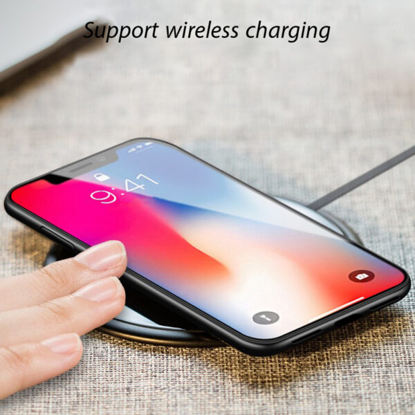 Magnetic Adsorption Case for IPhone X 8 PLUS 7 Plus Clear Tempered Glass Built in Magnet 3