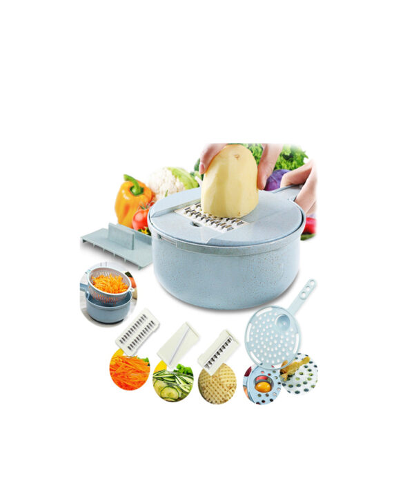 Mandoline Slicer Vegetable Slicer Potato Peeler Carrot Onion Grater with Strainer Vegetable Cutter 8 in 1 6