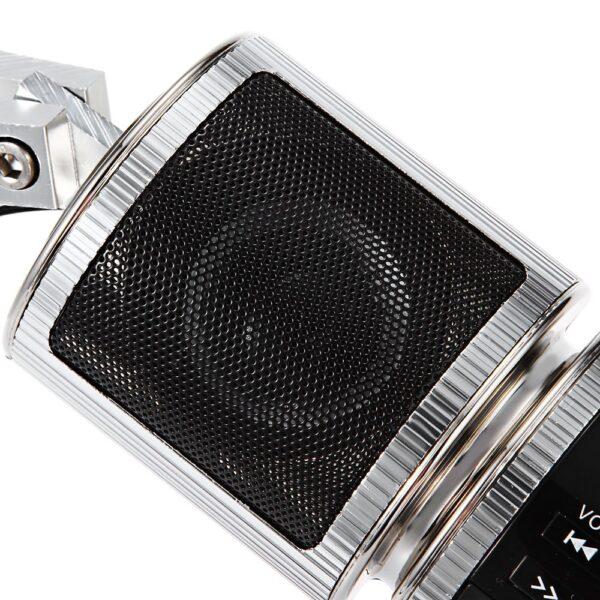 Motorcycle MP3 Player Speaker Bluetooth Music FM Radio Waterproof Adjustable Bracket Motorbike Audio Stereo 2