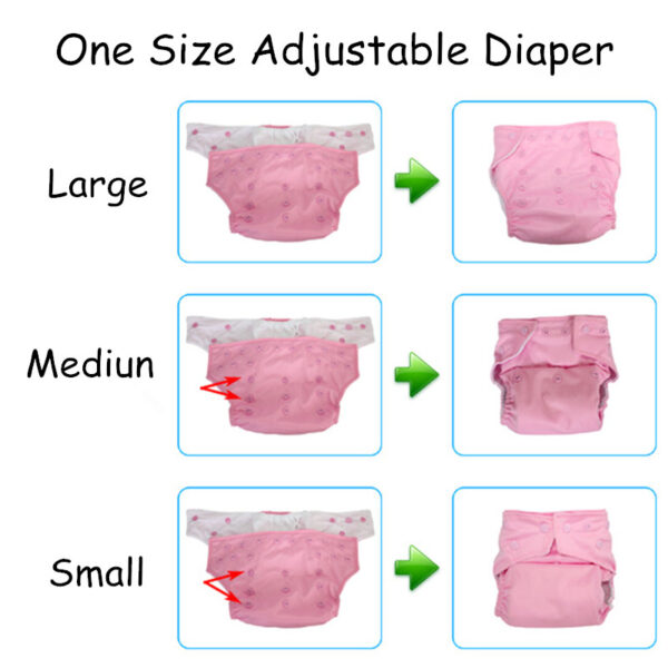 Mumsbest Reusable Baby Cloth Diaper washable Solid Color Baby Nappy One Size Adjustable Many Colors 2