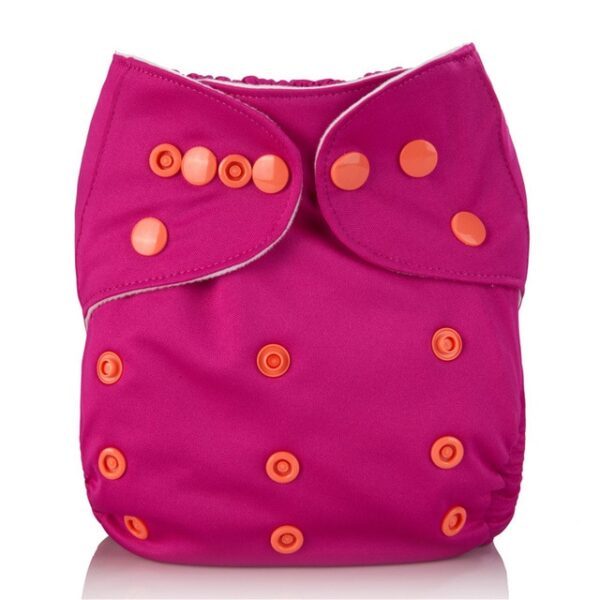 Mumsbest Reusable Baby Cloth Diaper washable Solid Color Baby Nappy One Size Adjustable Many Colors 8.jpg 640x640 8