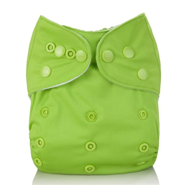 Mumsbest Reusable Baby Cloth Diaper washable Solid Color Baby Nappy One Size Adjustable Many