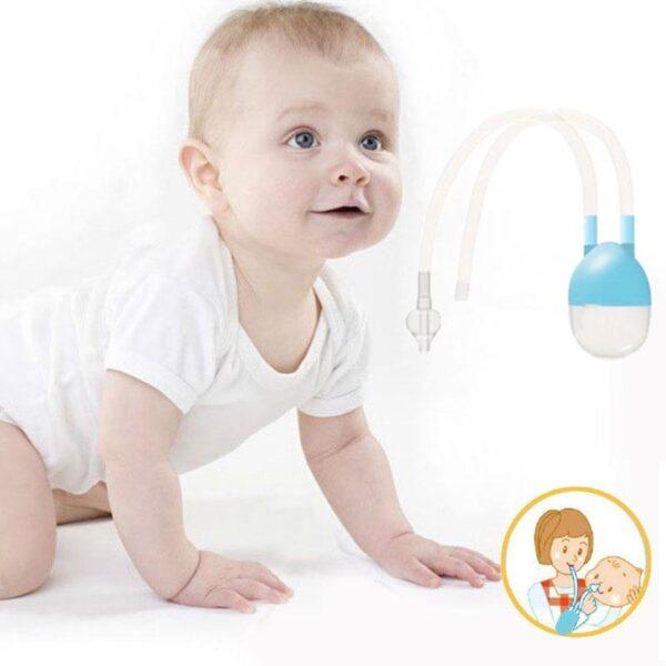 Newborn Baby Safety Nose Cleaner Vacuum Suction Nasal Aspirator Flu Protections Nasal Aspirator Nasal Snot Nose 3