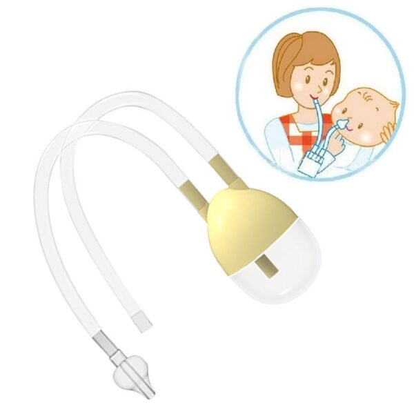 Newborn Baby Safety Nose Cleaner Vacuum Suction Nasal Aspirator Flu Protections Nasal Aspirator Nasal Snot Nose 4