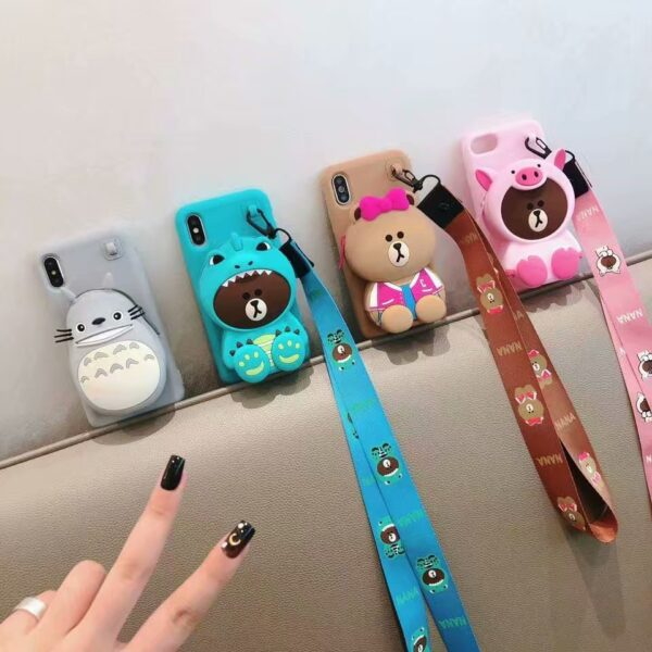 ORYKSZ 3D Cartoon Totoro Hand with Phone Case For iPhone 6 6s 7 8 Plus Cases 5