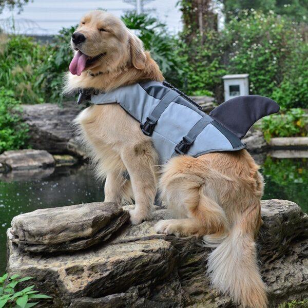 Pet Dog Life Jacket Safety Clothes Life Vest Collar Harness Saver Pet Dog Swimming Preserver Summer 2