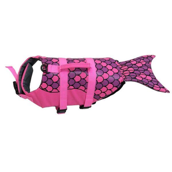 Pet Dog Life Jacket Safety Clothes Life Vest Collar Harness Saver Pet Dog Swimming Preserver Summer 3