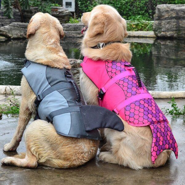 Pet Dog Life Jacket Safety Clothes Life Vest Collar Harness Saver Pet Dog Swimming Preserver Summer