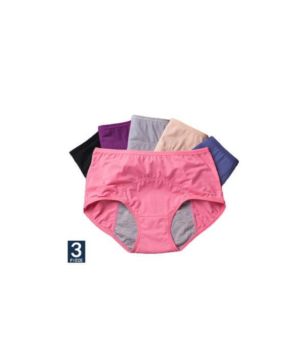 Physiological Pants Leak Proof Menstrual Women Underwear Period Panties Cotton Health Seamless Briefs High Waist Warm 5