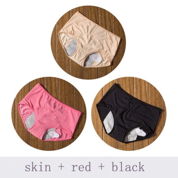 Physiological Pants Leak Proof Menstrual Women Underwear Period Panties Cotton Health Seamless Briefs High Waist