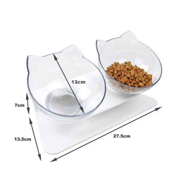 Plastic Double Non slip Pet Bowl For Dogs Puppy Cats Food Water Feeder Pets Feeding Dishes 3