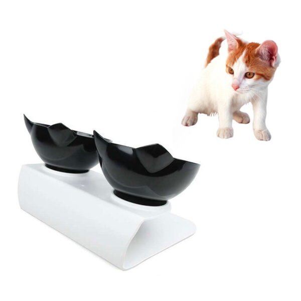 Plastic Double Non slip Pet Bowl For Dogs Puppy Cats Food Water Feeder Pets Feeding Dishes 4
