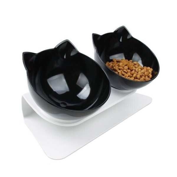 Plastic Double Non slip Pet Bowl For Dogs Puppy Cats Food Water Feeder Pets Feeding
