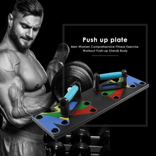 Push Up Rack Board Men Women 9 System Comprehensive Fitness Exercise Workout Push up Stands Body 4