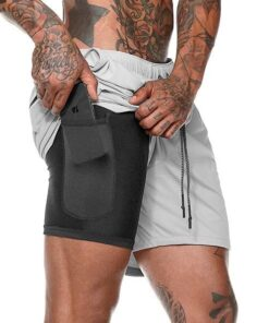 Men's 2 in 1 New Summer Secure Pocket Shorts, Men's 2 in 1 New Summer Secure Pocket Shorts