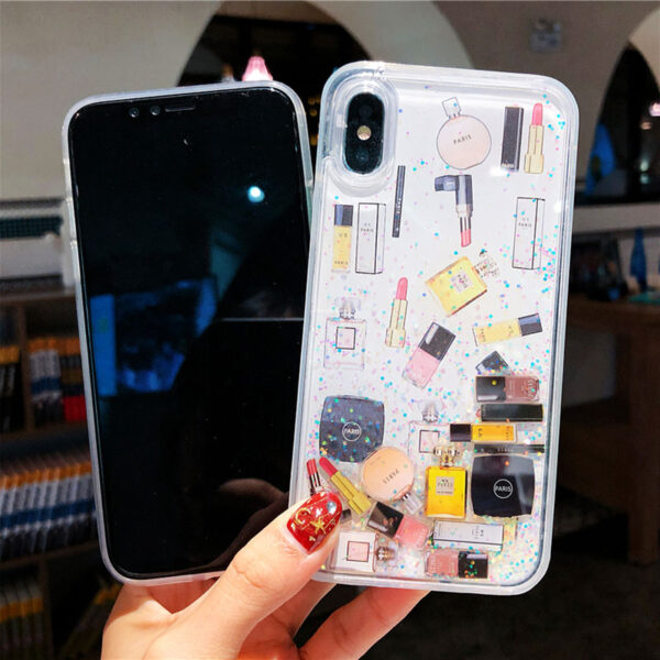 Quicksand Capinha For iPhone X 7 8 Plus Xs Max Xr Hard Plastic Case For iPhone 2