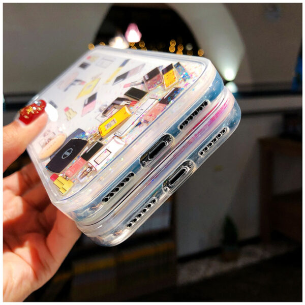 Quicksand Capinha For iPhone X 7 8 Plus Xs Max Xr Hard Plastic Case For iPhone 4