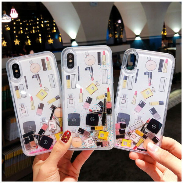 Quicksand Capinha For iPhone X 7 8 Plus Xs Max Xr Hard Plastic Case For iPhone 5
