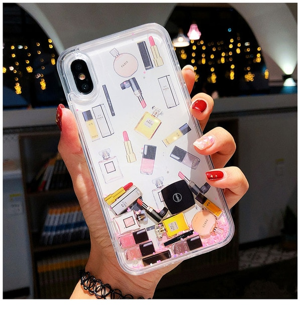 Quicksand Capinha For iPhone X 7 8 Plus Xs Max Xr Hard Plastic Case For