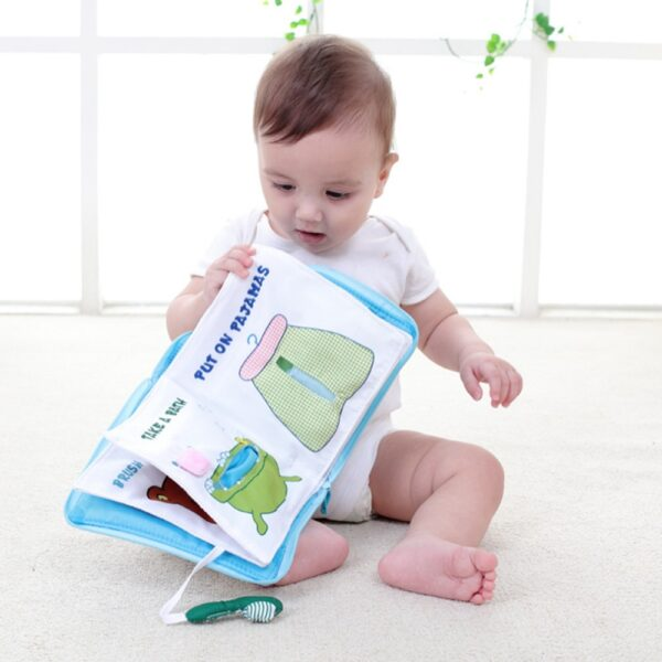 Soft Books Infant Early cognitive Development My Quiet Bookes baby goodnight educational Unfolding Cloth Book Activity 1